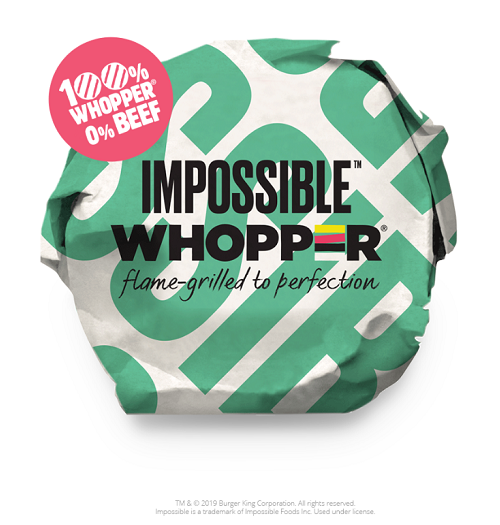 Impossible Whooper-Burger King-Vegan and Vegertarian Fast Food Options