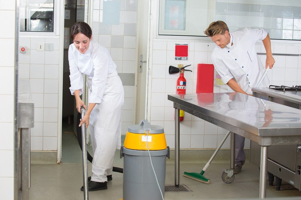 How to Clean a Commercial Kitchen-Cleaning Floors