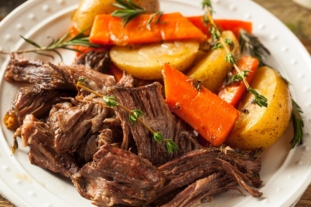 Fall Restaurant Menu Ideas and Flavors - Pot Roast with Carrots and Potatoes