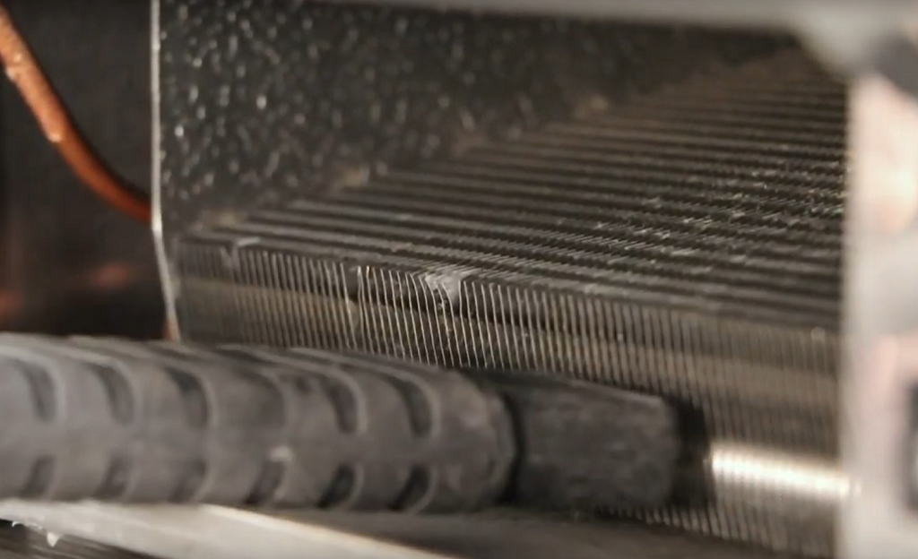 Cleaning a Commercial Refrigeration Condenser Coil