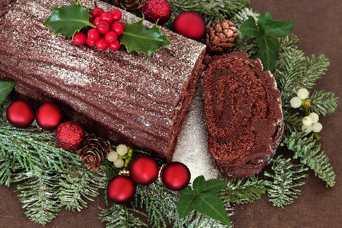 Chocolate Yule Log-10 Holiday Menu Ideas for Your Restaurant