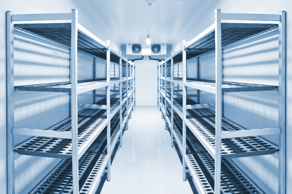 Empty Walk-In Cold Storage-How to Organize Your Commercial Kitchen's Cold Storage