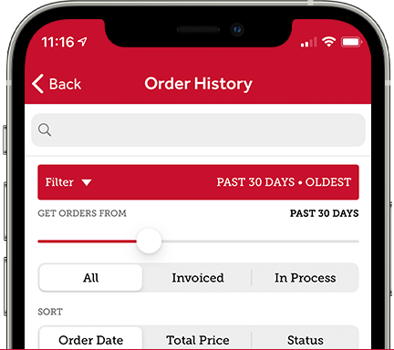 Parts Town App: Order History and Tracking