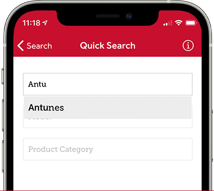 Parts Town App: Quick Search