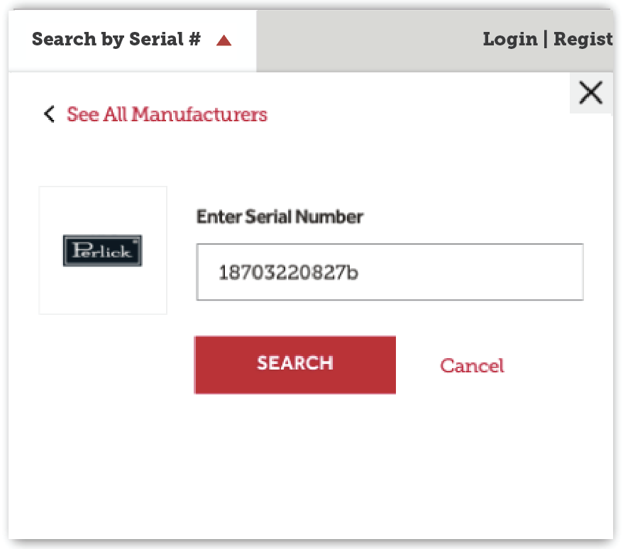 Look Up Number >> Serial Number Lookup Parts Town