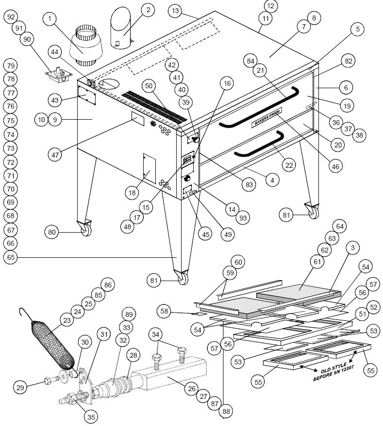 Bakers Pride 451 Parts Diagram