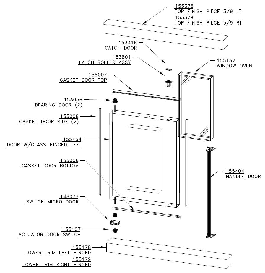 Duke 59 E3zz Parts Diagram Town Drawer Assy And List For Sharp Microwaveparts Model Zz Door Assembly
