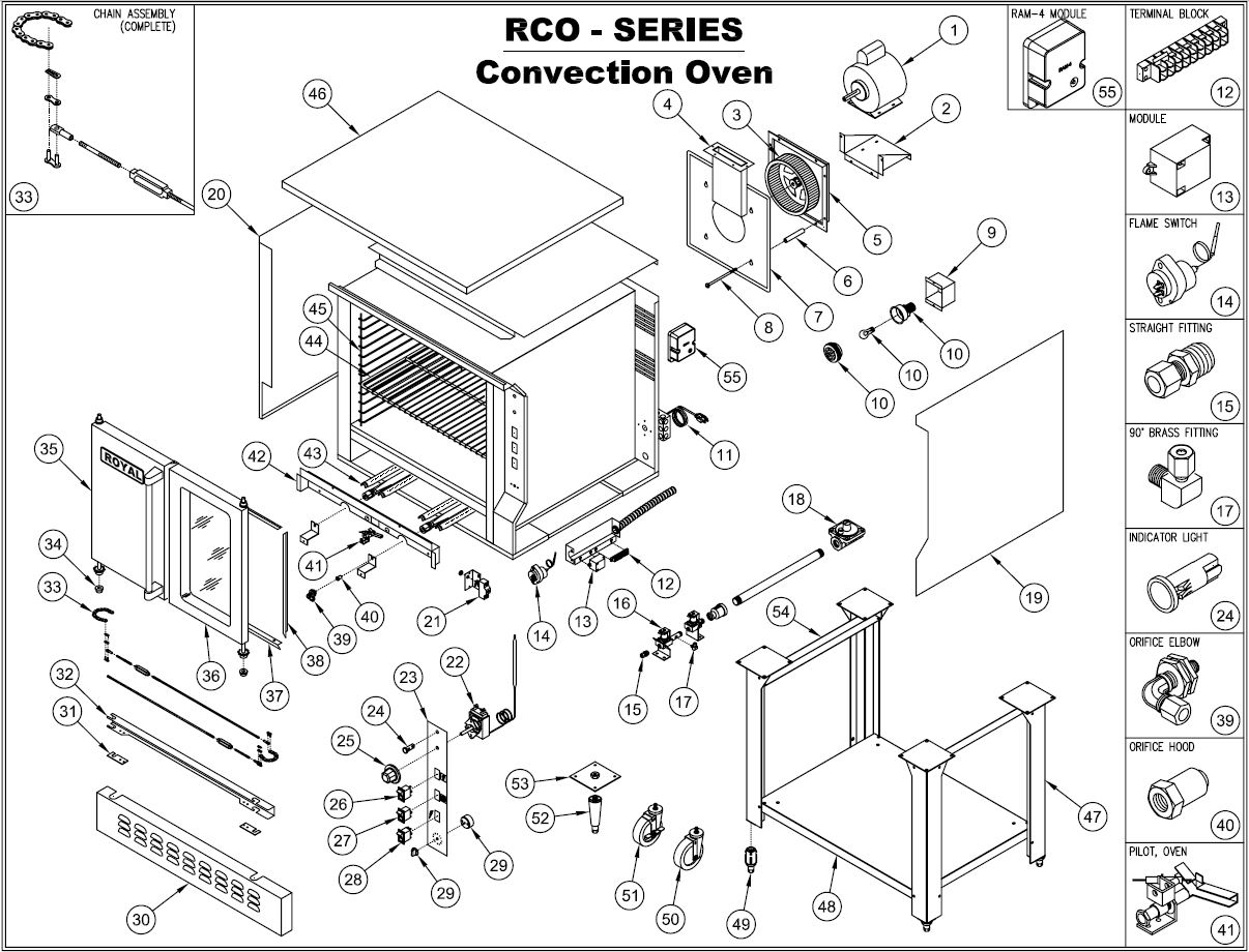 royal range rcod parts diagram parts town