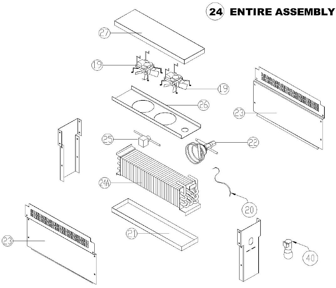Randell 52365wprm Cfa Parts Diagram Town Hobart Rack Oven Wiring Evaporator Coil Assembly