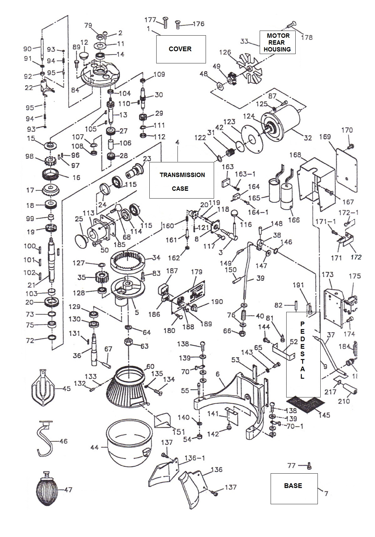 thunderbird mixer wiring diagram