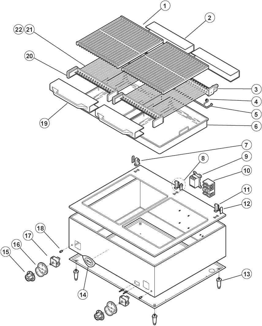 wells b 50 parts diagram parts town  b 50 electric charbroiler