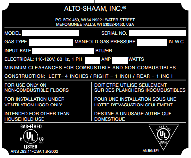 How to find your Alto Shaam model and serial number